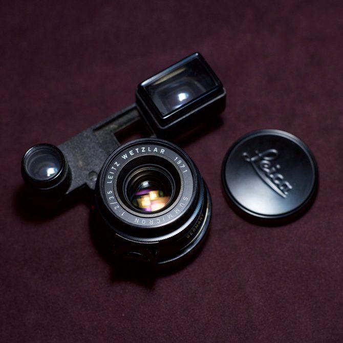 大珍品 Leica Summicron 35/2 8elements Black Paint Goggles