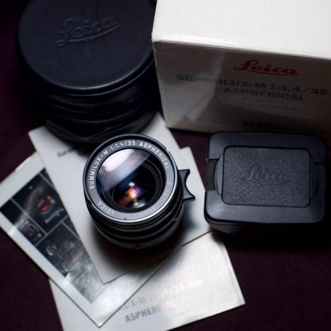 大珍品 Leica Summilux 35/1.4 Aspherical 11873 Fullset
