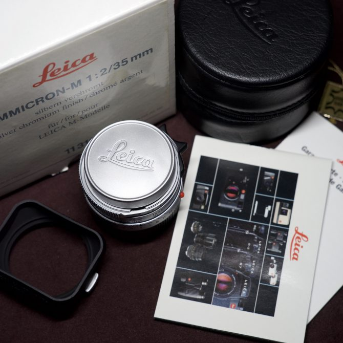 Leica Summicron 35/2 v4 7 Elements Silver 11311