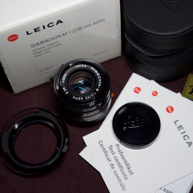 Leica Summicron 35/2 Asph Black Paint 11611