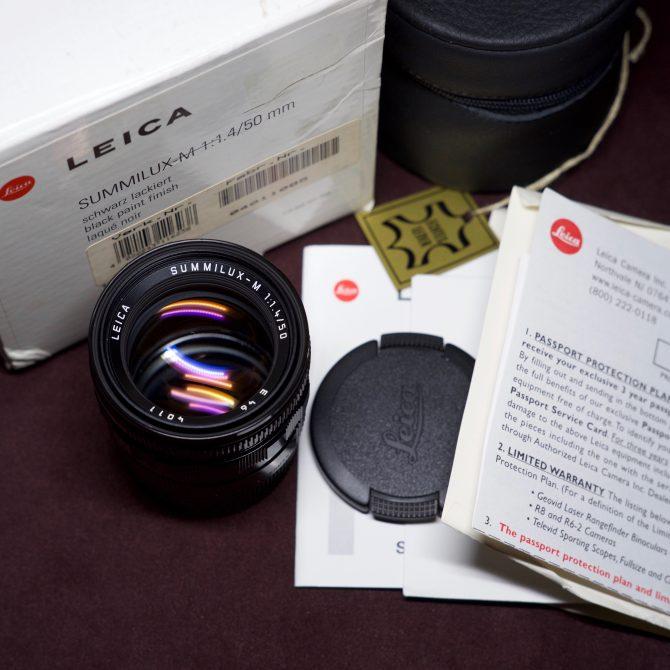 Leica Summilux 50/1.4 Pre-a Black Paint 11623