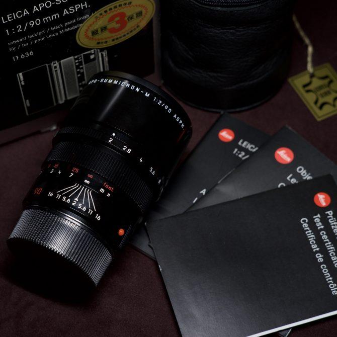 Leica APO-Summicron-M 90/2 ASPH Black Paint 11636