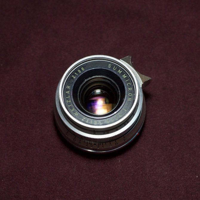 Leica Summicron 35/2 8elements Silver Chrome