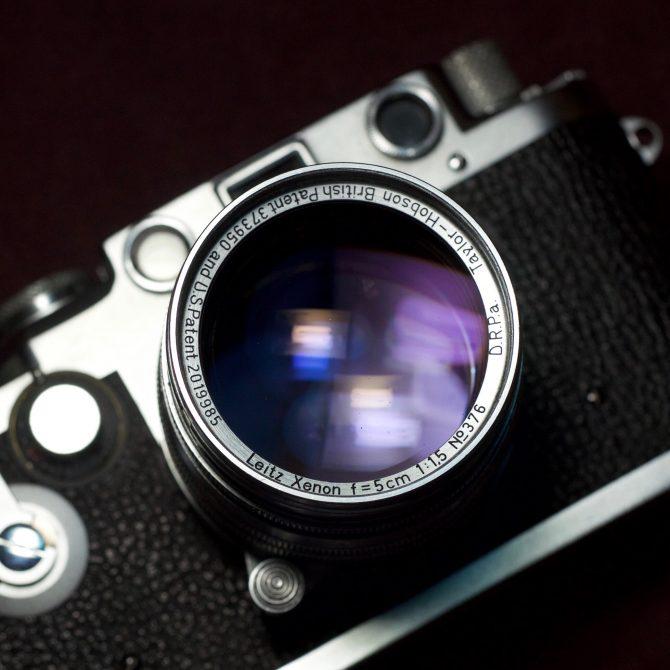 """大珍品 Leica Xenon 5cm/1.5 Taylor-Hobson Ltm """"White Face"""""""