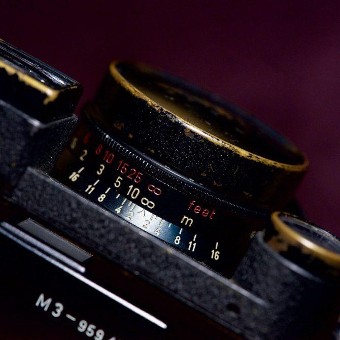"""珍品 Leica Summicron 35/2 Black Paint """"8elements"""" Red scale Goggle"""