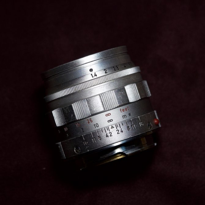 "珍品 Leica Summilux 50/1.4 Silver ""Transitional"" x ""Unusual Mount"""