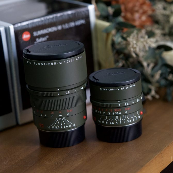 "Leica ""Safari Edition"" Summicron 28/2 Asph and APO 90/2 Asph"