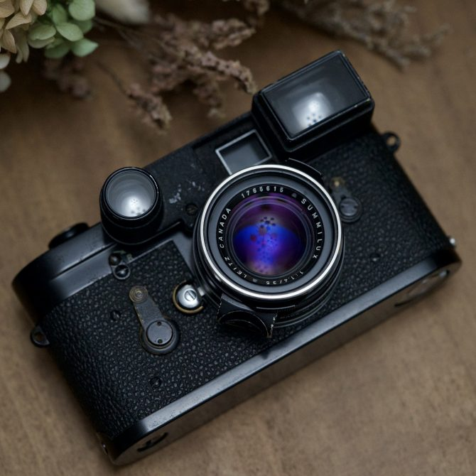 "大珍品 Leica Summilux 35/1.4 v1 Black ""Steel Rim"" Goggle version"