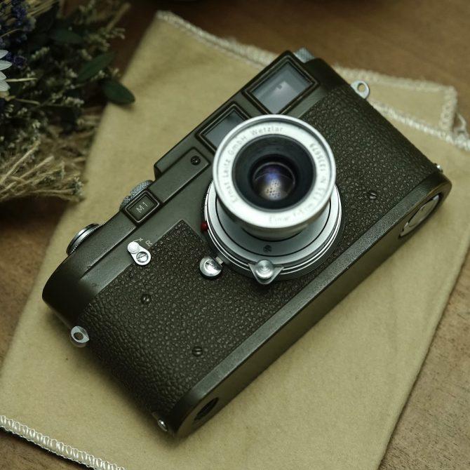 """珍品 Leica M1 Olive """"Bundeseigentum"""" 12-129-7739 Military set"""