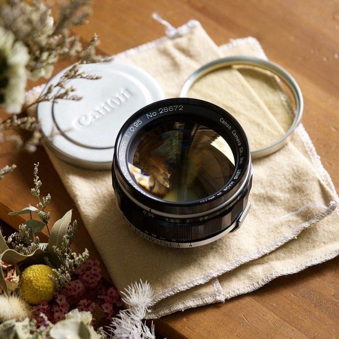 珍品 Canon 50/0.95 super dream lens