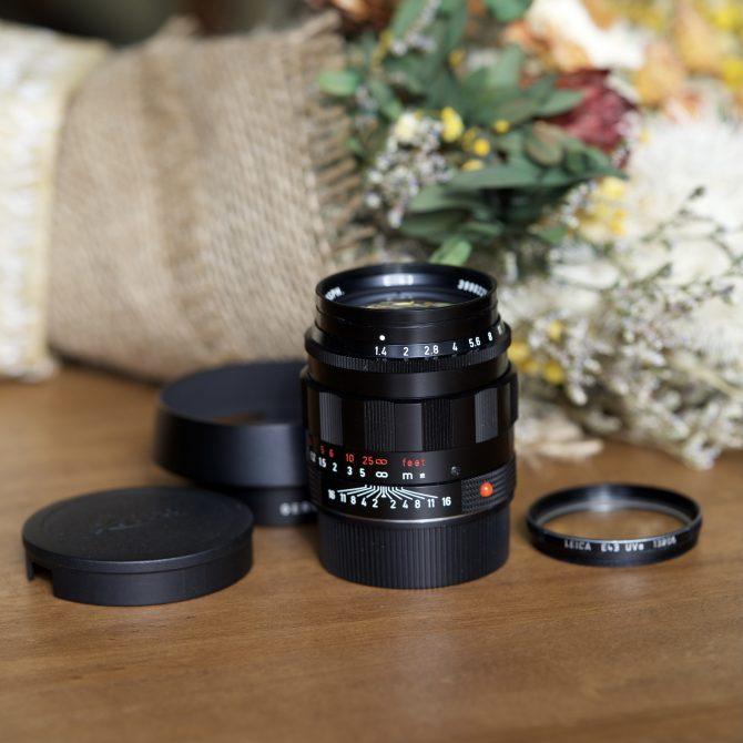 """珍品 Leica Summilux 50/1.4 Black Paint """"LHSA"""" Special Edition"""